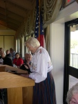 Ms. Silva Jensen commemorates the occasion with poetry