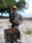 Paul Narits, the Aares' son-in-law, serves as a second grill chef