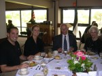 Guests from Estonian sit with Rein Raja, KFES Treasurer