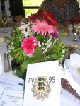Mrs. Tiiu Slankis once again adorns our tables with floral centerpieces: Where there's an Estonian, there's a flower!