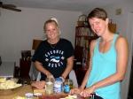 Kati Rausberg and Viive Rebane preparing rosolje for the Jaanipäeva celebration. June 23, 2013