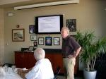Jaan Kuuskvere presides over the KFES annual meeting, Nov 3, 2013