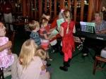 The children sing to Santa's delight! KFES, December 8, 2013