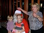 Logan and Annika Karr with Santa and päkapikk Kaie Latterner, KFES, December 8, 2013