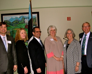 Attending the February 21, 2014 official opening of the Estonian Honorary Consulate in St. Petersburg, Florida: Estonian Consul General Sten Schwede, Pinellas County Commission Chair Karen Williams-Seel, President & CEO of the St. Petersburg Area Chamber of Commerce Chris Steinocher, Estonian Ambassador to the United States and Mexico Her Excellency Marina Kaljurand, Estonian Honorary Consul Lisa Ann Mets, and President & CEO of the St. Petersburg Downtown Partnership Peter Betzer.  Photo: Kalle Kaljurand