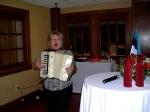 Ms. Kaie Põhi Latterner leads us in song, KFES EV96, 21. veeb. 2014, St. Petersburg, FL