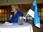 Estonian Honorary Consul Lisa Mets offers closing remarks, KFES EV96, 21. veeb. 2014, St. Petersburg, FL