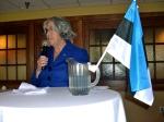 Estonian Honorary Consul Lisa Mets offers closing remarks, KFES EV96, 21. veeb. 2014, St. Petersburg, FL