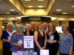 "Friends and members of the Estonian Society of Central Florida (Maare Kuuskvere, Mall Sibul, Erkki Taada, Jaan Kuuskvere, Monika Orumaa Craig, lisa Mets) welcome Urve Tamberg (center),  author of ""The Darkest Corner of the World,"" Sarasota, FL, March 9, 2014."