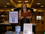 "Urve Tamberg, author of ""The Darkest Corner of the World,"" reads from her work. Sarasota, Florida, March 9, 2014."
