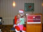 Annike Karr and Santa, KFES, 6 dets 2014, St. Petersburg, FL