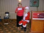 Kaie Põhi Latterner and Santa, KFES, 6 dets 2014, St. Petersburg, FL