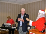 Henn Rebane and Santa, KFES, 6 dets 2014, St. Petersburg, FL