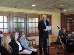 Pastor Priit Rebane offers the invocation, Kesk Florida Eesti Selts, EVA 97, 21 veeb 2015. Foto: Urve Põhi
