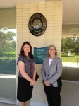 The Honorable Ms. Rita Melder, Consul of the Republic of Estonia, and Lisa Mets, Honorary Consul in St. Petersburg, Florida. Estonian Honorary Consulate, Eckerd College, St. Petersburg, Florida. March 20, 2015