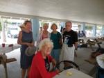 Marju Ferst, Malle Sibul, Mall and Endel Jaska with Linia Elmend. KFES piknik, Anna Maria Island, 26 aprill 2015. Foto: Lisa Mets