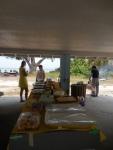 Lunch! KFES piknik, Anna Maria Island, 26 aprill 2015. Foto: Lisa Mets