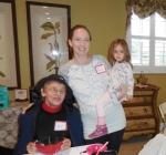 Vanaema Alli visits tütar Reet ja tütretütar Chloe, KFES luncheon, 03 Jan 2016