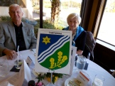 Ron Methot and Silva Jensen. Eesti Vabariigi 98.a. Aastapäeva Tähistamine, Kesk Florida Eesti Selts, Countryside Country Club, Clearwater, FL, 20. veeb. 2016.a. Foto: Lisa A. Mets