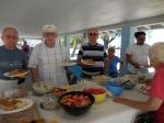Endel Jaska, Howard Shipotofsky and Erkki Taada. Kesk Florida Eesti Selts picnic, Anna Maria Island, FL, 24 apr. 2016. Foto: Lisa A. Mets