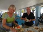 Ingrid Shipotofsky and Jaan Kuuskvere. Kesk Florida Eesti Selts picnic, 24. apr. 2016, Anna Maria Island, FL. Foto: Lisa A. Mets