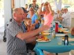 "Avo Aljas adds one extra new verse to ""Ta (nad) Elagu!"" Kesk Florida Eesti Selts picnic, Anna Maria Island, FL, 24 apr. 2016. Foto: Lisa A. Mets"