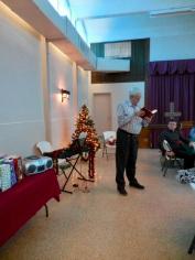 Pastor Priit Rebane, Kesk Florida Eesti Selts Jõulupidu, 11. dets. 2016. Foto: Lisa A. Mets