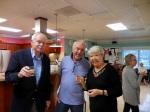 Tõnu Toomepuu, Markus Larsson, and Maare Kuuskvere. (Also Viive Morin). KFES Supp ja Võileiva Lõunasöök. 7. jaan. 2017. Seminole, FL. Foto: Lisa A. Mets