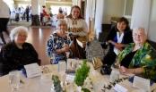 Linia Elmend, Leena Aare, Marju Dishmey, Gloria Lepik, and Urve Põhi. Estonian Society of Central Florida (KFES), EV99 celebration, 25 Feb 2017, Clearwater, FL. Foto: Lisa Mets