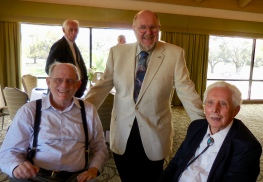 Howard Shipotofsky, Mart Nurmet, and Dick. Estonian Society of Central Florida (KFES), EV99 celebration, 25 Feb 2017, Clearwater, FL. Foto: Lisa Mets