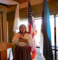 Marju Dishmey. Estonian Society of Central Florida (KFES), EV99 celebration, 25 Feb 2017, Clearwater, FL. Foto: Lisa Mets