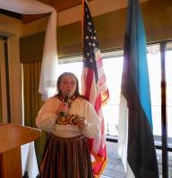 Marju Dishmey. Estonian Society of Central Florida (KFES), EV99 celebration, 25 Feb 2017, Clearwater, FL. Foto: Lisa Mets